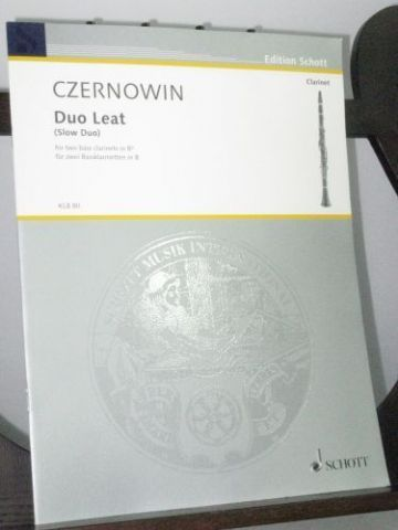 Czernowin C - Duo Leat (Slow Duo) for 2 Bass Clarinets